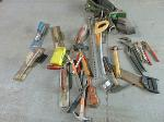 Lot: B6 - HAND SAWS, MALLET, SCREWDRIVER, CHANNELLOCKS, HAMMER
