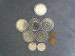 Lot: 6420 - PEACE & IKE DOLLARS, KENNEDY HALVES & INDIAN PENNY