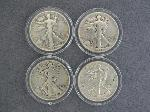 Lot: 6422 - (4) 1939-1942 WALKING LIBERTY HALVES