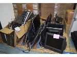 Lot: 877 - (12) Computer Screens, (3) Computer Systems & Box of Computer Cords And Keyboards