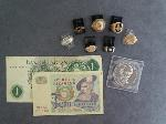 Lot: 6458 - MEDALS, FOREIGN CURRENCY & 10K RINGS