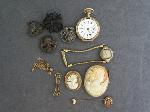 Lot: 6461 - CAMEO'S, WATCHES, 10K & STERLING PINS