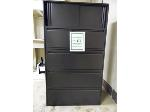 Lot: 61.UVAL - (3) LATERAL FILE CABINETS, BOOKCASE, (15) ASSTED CHAIRS, (3) TABLES, PRINTER/COMPUTER UNIT.