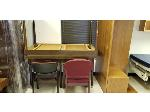 Lot: 7.BE - (2) DESKS, (6) CHAIRS