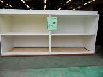 Lot: 85.UV - 3 PIECE WHITE CABINETRY, (15) BLUE STACKING CHAIRS, (2) ROLLING CHAIRS, KEYBOARD