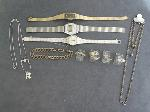 Lot: 450 - WATCHES, BRACELET, STERLING NECKLACE & 10K RING