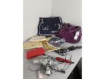 Lot: F605 - BAGS, HAIR CURLERS & DRYER
