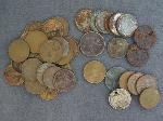Lot: 77 - FLYING EAGLE PENNY, DIME, NICKEL & FOREIGN COINS