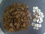 Lot: 84 - APPROX. (798) WHEAT PENNIES & APPROX. (37) FOREIGN