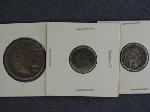 Lot: 101 - LARGE CENT, SEATED DIME & INDIAN HEAD PENNY