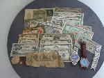 Lot: 103 - U.S. & FOREIGN CURRENCY, TOKENS & WATCHES