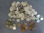 Lot: 108 - TWO CENT PIECE, NICKELS & PENNIES