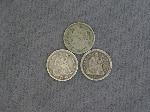 Lot: 117 - SEATED DIMES & THREE CENT PIECE