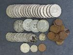 Lot: 6546 - LIBERTY & KENNEDY HALVES, NICKELS, PENNIES & FOREIGN
