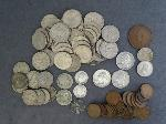 Lot: 6564 - QUARTERS, DIMES, NICKELS, PENNIES & FOREIGN