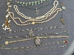 Lot: 6592 - ROSARY, NECKLACES & 10K NECKLACES