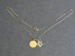 Lot: 547 - NECKLACE, PENDANT & 14K PENDANT