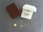 Lot: 556 - RING, 14K NECKLACE, 14K PENDANT & 14K EARRINGS