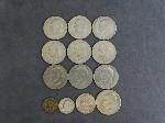 Lot: 569 - IKE DOLLARS, FRANKLIN HALF, QUARTER & FOREIGN