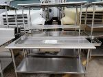 Lot: CN-954 - (3) STAINLESS STEEL TABLES