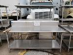 Lot: CN-955 - (3) STAINLESS STEEL TABLES