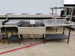 Lot: CN-957 - (2) STAINLESS STEEL TABLES AND SINK