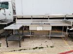 Lot: CN-958 - (2) STAINLESS STEEL TABLE AND SINK