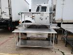 Lot: CN-959 - (3) STAINLESS STEEL TABLE AND SINK