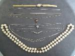 Lot: 149 - WATCH, 14K NECKLACES & STERLING NECKLACES