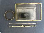 Lot: 6638 - JEWELRY BOX, BANGLE, SILVER BRACELET & 14K WATCH