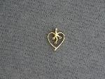 Lot: 6649 - 14K HEART PENDANT