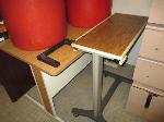 Lot: 49.SP - PARTITIONS, TRASH CANS, TABLE, TRAYS