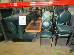 Lot: C7/L - (2) Diner-style booths, Tables ( 15) Chairs
