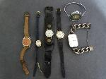 Lot: 6657 - WATCHES & WATCH WITH STERLING LINK STRAP