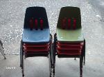 Lot: 35&36 - (10) Chairs & Chalkboard