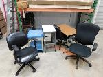 Lot: 39 - Office Furniture : Chairs, Table Desk, Cart