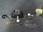 Lot: 26 - CUFFLINKS, WATCHES, NECKLACE, RINGS, EARRINGS
