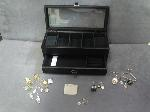 Lot: 27 - RING, EARRINGS, JEWELRY BOX, CHARM, SILVER ITEMS