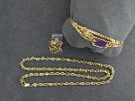 Lot: 630 - BRACELET, CHAIN & 14K RING