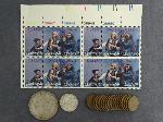 Lot: 639 - MORGAN DOLLAR, WHEAT PENNIES, FOREIGN & STAMPS