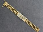 Lot: 6825 - 18K LARGE ID BRACELET