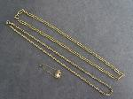Lot: 6831 - 14K BRACELET/NECKLACE & GOLD FILLED CHAINS