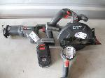 Lot: 187 - PORTER CABLE CIRCULAR SAW, JIG SAW, CABLE LIGHT & BATTERY