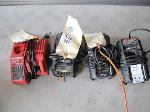 Lot: 195 - (4) CORDLESS BATTERY CHARGERS