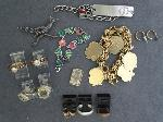 Lot: 6855 - SILVER RING, SILVER PENDANTS & 10K RINGS