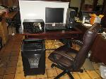 Lot: 15 - Computer Desk, Chair, Accesories