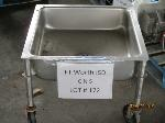 Lot: CNS172 - SECO STAINLESS STEEL SINK ON WHEELS