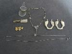 Lot: 6884 - EARRINGS, PENDANT, BRACELET & 10K/STAINLESS RING
