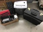 Lot: 75.SF - Keyboard, Cassette Tapes, File Bag, Shredder