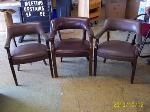 Lot: 121 - (3) Brown guess chairs